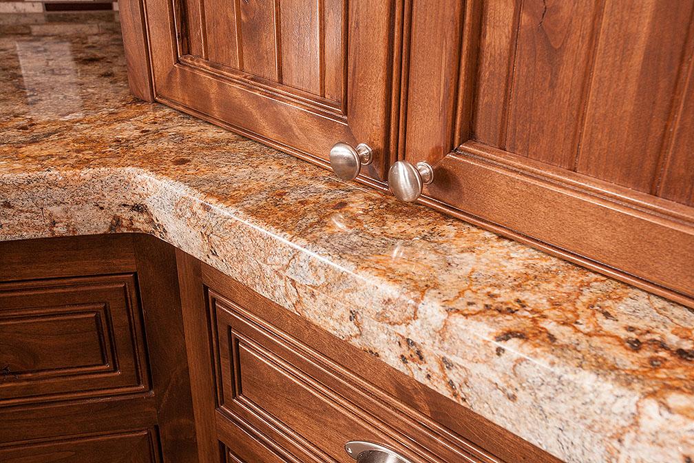 Beautiful custom cabinets on top of stunning granite