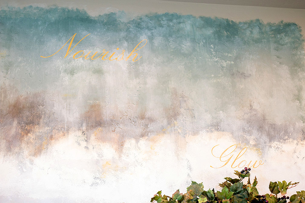 We love how this mural in the kitchen turned out!
